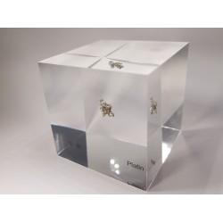 Acrylic cube Platinum