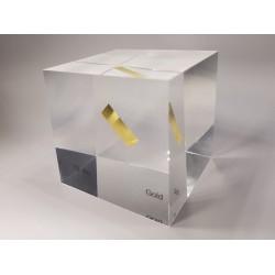 Acrylic cube Gold