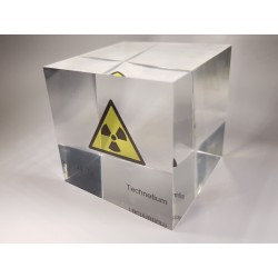 Acrylic cube Technetium