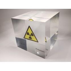 Acrylic cube Polonium