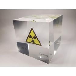 Acrylic cube Actinium