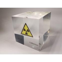 Acrylic cube Californium