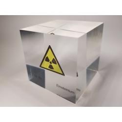 Acrylic cube Einsteinium