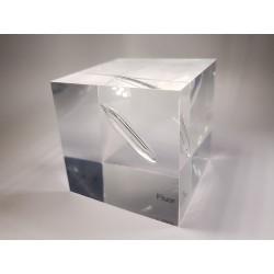 Acrylic cube Fluorine/Helium