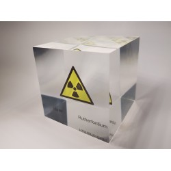 Acrylic cube Rutherfordium