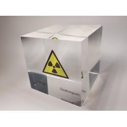 Acrylic cube Seaborgium