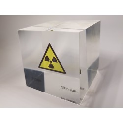 Acrylic cube Nihonium