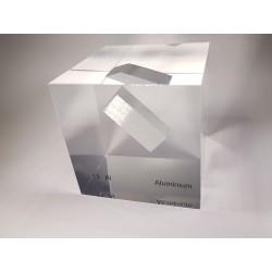 Acrylic cube Aluminium