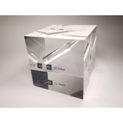 Acrylic cube Chlorine