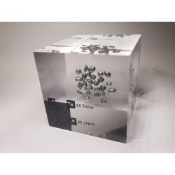 Acrylic cube Tellurium