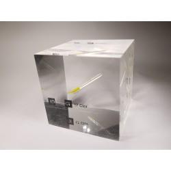 Acrylic cube Chlorine liquid