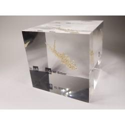 Acrylic cube silver