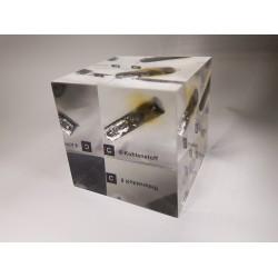 Acrylic cube Carbon