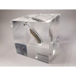 Acrylic cube Samarium