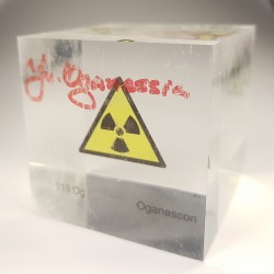 Acrylic cube Oganesson with...