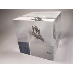 Acrylic cube Titanium