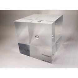 Acrylic cube Rhodium